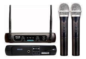 Microfone Sem Fio Vokal Vws-20 Plus Dois Bastões