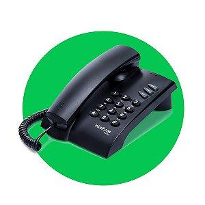 Telefone Com Fio E Chave Pleno Preto - Intelbras