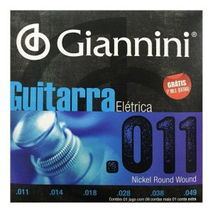 Encordoamento Giannini p/Guitarra .011 Nickel Round Wound