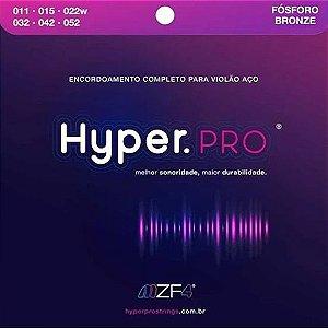 Encordoamento Hyper. PRO Violão Aço .011 Fósforo Bronze