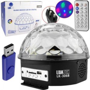 Bola Maluca De Led 30 Watts Rgb Mp3 Lk306b Luatek