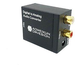 Conversor De Áudio Digital P/ Analógico Óptico/rca