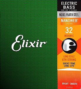 Corda 6ª Dó P/baixo Medium 032- Elixir