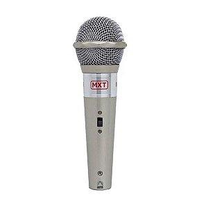 Microfone M-996 Plástico Prata Com Fio - Mxt