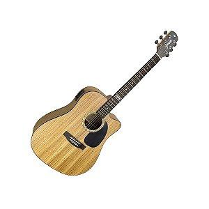 Violão Giannini Gf-1d Ceq Zw Zebra Wood Folk Gf 1d