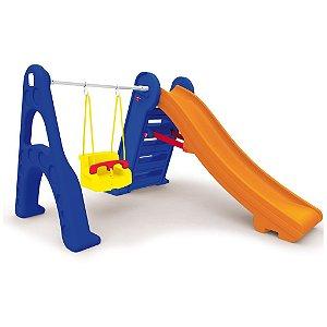 Escorregador Com Balanço - Escorregador Infantil Com Balanço