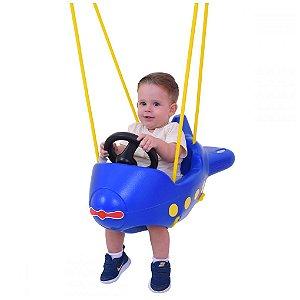 Balanço infantil Avião Azul