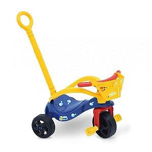 Triciclo Peixinho com Empurrador, Proteção e Cestinha