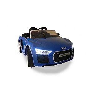 Carrinho 6 voltz Audi R8 Azul