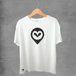 Camiseta masculina e feminina basic branca 100% Algodão Corujas Nº 2
