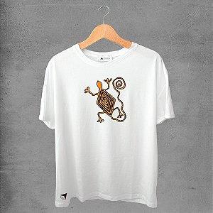 Camiseta masculina e feminina basic branca 100% Algodão Coleção Apaoká Nº 4