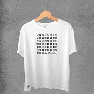 Camiseta masculina e feminina basic branca 100% Algodão Coleção Apaoká Nº 6