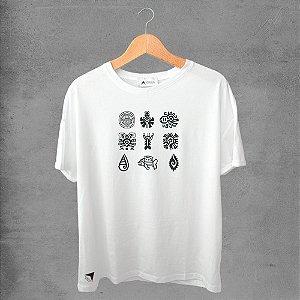 Camiseta masculina e feminina basic branca 100% Algodão Coleção Apaoká Nº 8