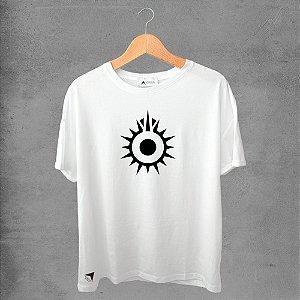 Camiseta masculina e feminina basic branca 100% Algodão Coleção Apaoká Nº 27