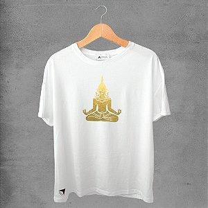 Camiseta masculina e feminina basic branca 100% Algodão Coleção Apaoká Nº 29