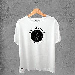 Camiseta masculina e feminina basic branca 100% Algodão Coleção Apaoká Nº 30