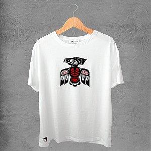 Camiseta masculina e feminina basic branca 100% Algodão Coleção Apaoká Nº 41