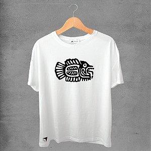 Camiseta masculina e feminina basic branca 100% Algodão Coleção Apaoká Nº 47
