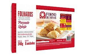 FOLHADO DE PRESUNTO E QUEIJO 240 GRAMAS FORNO DE MINAS
