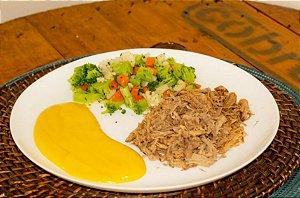 Carne Desfiada com Mandioquinha e Legumes 350 gramas Natural Fast