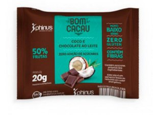 Bomcacau  Coco/Choc 20 gramas - Phinus