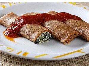 Panqueca int brocolis c/ queijo e arroz integral 390 pratice