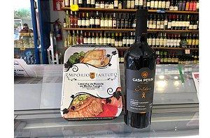 Kit 22 para 2 pessoas: Lasanha de Rosbife ao Molho Funghi + Vinho Cabernet & Merlot Solidário Casa Perini
