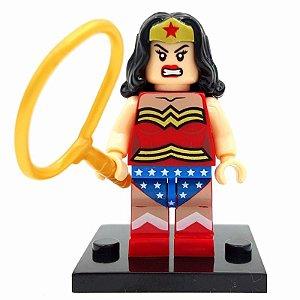 Boneco Mulher Maravilha Figura Compatível Lego DC Comics