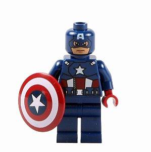 Boneco Capitão América Compatível Lego Marvel