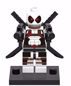 Boneco Deadpool Branco Compatível Lego Marvel