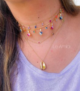 CHOKER ARO COLORS! New!!! Ouro 18k