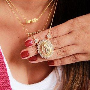 Colar Nossa Senhora das Graças Gold - Prata 925