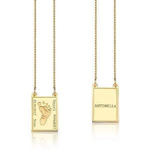 Escapulario Special Pezinho Gold - Prata 925