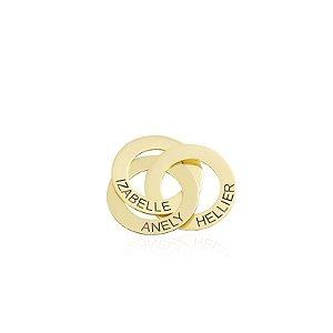 Colar Elos Entrelacados Gold- Prata 925