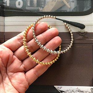 New!! Pulseira Bolinha Gold • prata 925