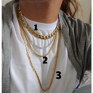 New! Colar Gold 3 (70 cm)