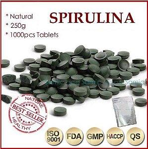 Spirulina orgânica importada 1.000 tablets de 250mg