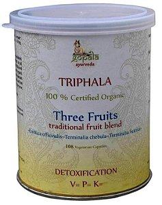 Triphala Orgânico 100% Puro 108 capsulas de 250mg