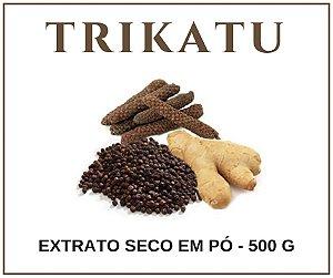 Trikatu extrato seco em pó 500g Orgânico Ayurveda Afrodisíaco