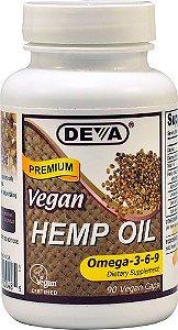 Deva Vegan Hemp Oil - 90 Cápsulas Veganas