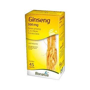 Ginseng (Panax ginseng) 500mg BIONATUS 45 Cápsulas
