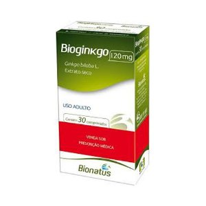 Bioginkgo (Ginkgo biloba) BIONATUS 120mg 30 Comprimidos