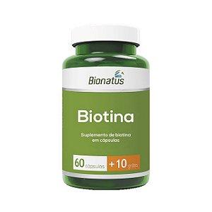 Biotina BIONATUS 60 Cápsulas (+10 Grátis)