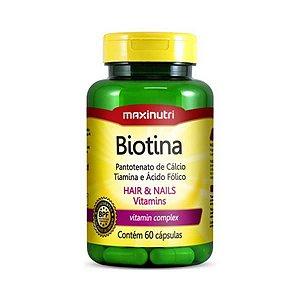 Biotina (B7 + B5 + B1 + B9) MAXINUTRI 60 Cápsulas