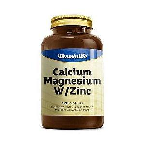 Calcium Magnesium Zinc VITAMIN LIFE 120 Cápsulas