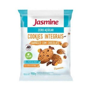 Cookies Integrais de Damasco com Chocolate JASMINE Zero Açúcar 150g