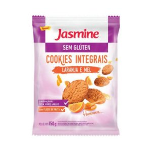 Cookies Integrais de Laranja e Mel JASMINE Sem Glúten 150g