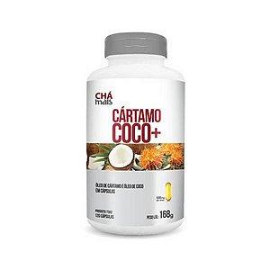 Óleo de Cártamo + Óleo de Coco CHÁ MAIS 1000mg 60 Cápsulas