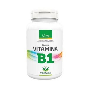 Vitamina B1 (Tiamina) VITAL NATUS 1,2mg 60 Comprimidos
