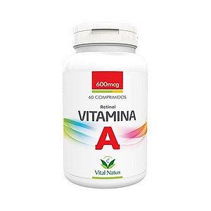 Vitamina A (Retinol)  600mcg 60 Comprimidos VITAL NATUS